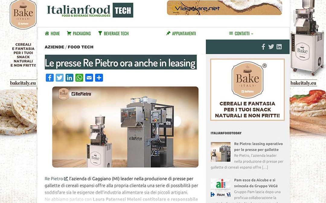 "Interview on ""Italian Food Tech"""